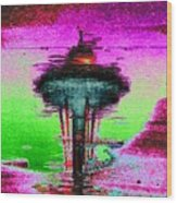 Needle In A Raindrop Stack Wood Print