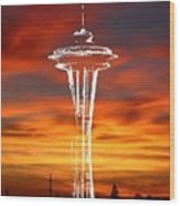 Needle Silhouette Wood Print