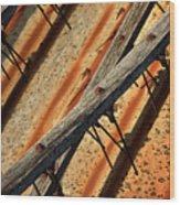Needles And Wood Wood Print