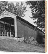 Neet Covered Bridge Wood Print