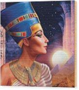 Nefertiti Variant 5 Wood Print