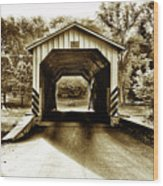 Neff's Mill Covered Bridge - Lancaster County Pa. Wood Print