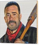 Negan - The Walking Dead Wood Print