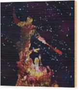 Negan Triumph And Stars Wood Print