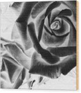 Negative Roses Wood Print