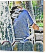 Neighborhood Gardener 2 Wood Print