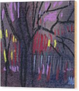 Neighbor's Lights Wood Print