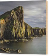 Neist Point Coastline Wood Print