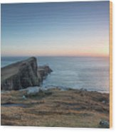 Neist Point Sunset Wood Print