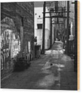 Nelson Bc Alley Wood Print