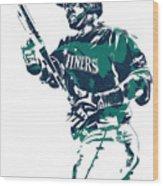 Nelson Cruz Seattle Mariners Pixel Art 5 Wood Print