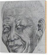 Nelson Mandela Wood Print by Stephen Sookoo