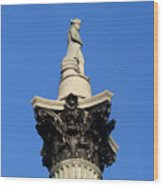 Nelson's Column, Trafalgar Square, London Wood Print