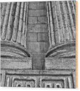 Neo Classical Architectural Detail In New York City Wood Print