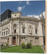 Neo Renaissance Architecture Of The Slovenian National Opera And Wood Print