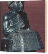 Neo-sumerian Prince Gudea Wood Print