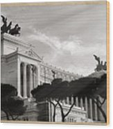 Neoclassical Architecture In Rome Wood Print by Stefano Senise