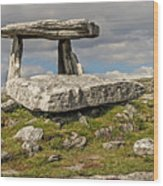 Neolithic Teleport - Portal Tomb In The Burren Wood Print