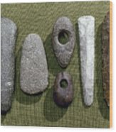 Neolithic Tools Wood Print