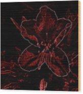 Neon Bloom Wood Print