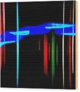 New Orleans Neon Christmas Frequency Abstract 1  Wood Print