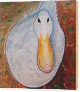Neon Duck Wood Print