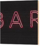 Neon Sign Wood Print