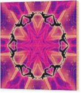 Neon Slipstream Wood Print
