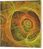 Angelic Script Y G O Wood Print