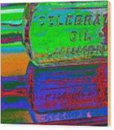 Neon Vessels Wood Print