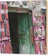 Nepalese Jewelry Shop Wood Print