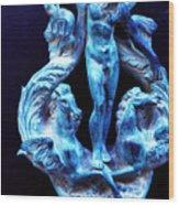 Neptune Door-knocker Wood Print