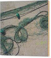Neptune Green Wood Print
