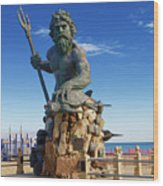 Neptune Virgina Beach  Wood Print