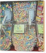 Nerds Smarties And More Candies Wood Print