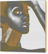 Nesha Wood Print by Naxart Studio