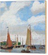 Netherland's Harbour Wood Print