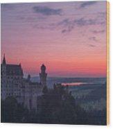 Neuschwanstein Castle Landscape Wood Print