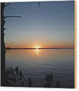 Neuse River Sunset 1 Wood Print