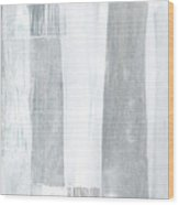 Neutral Stripes Light Wood Print