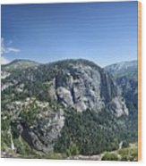 Nevada And Vernal Falls From Near Grizzly Peak - Yosemite Valley Wood Print