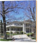 Nevada Governors Residence Wood Print