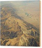 Nevada Mountain Terrain Aerial Wood Print