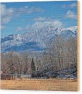 Nevada Ranch In Winter Wood Print