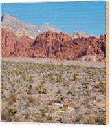 Nevada's Red Rocks Wood Print
