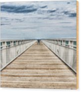 Never Ending Beach Pier Wood Print