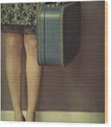 Never To Look Back Wood Print by Evelina Kremsdorf