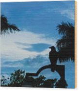 Nevermore In The Tropics Wood Print