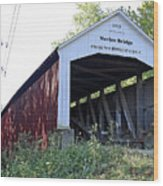 Nevins Covered Bridge Indiana Wood Print