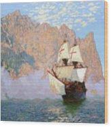 New Albion. Sir Francis Drakes Ship Wood Print